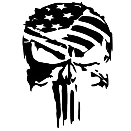 Punisher Flag Die Cut Vinyl Decal pv3007